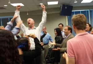 Jonathan Gaw wins rock paper scissors
